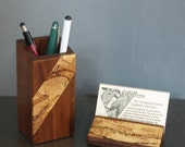 Pencil cup and card holder set