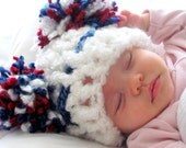 Another Hat that will go with the fringe blanket Red, White and Blue.  Free Shipping/Ready to Ship