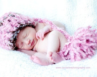 Newborn Fuzzy elf   crochet baby hat infant clothing