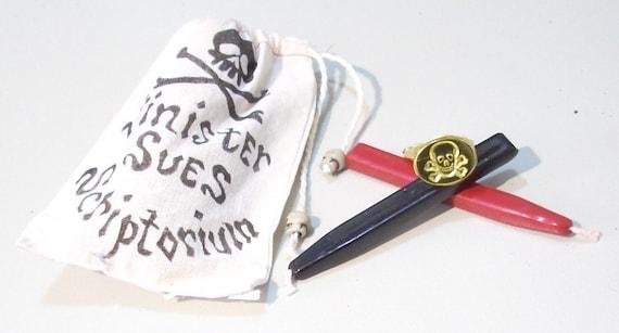 Pirate Scalawag Calligraphy Stationery Writing Sealing Wax