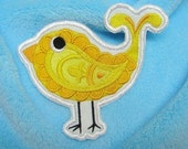 Tweet Paisley Bird  (Applique)  embroidered patch , sew or iron on your choice