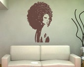 Beautiful Afro Chic Women Large Vinyl Wall Decal