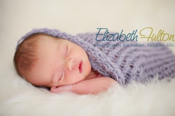 Papoose for baby - cocoon - pod - soft lilac - newborn photo shoot prop