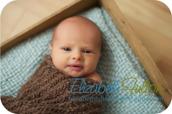 Papoose for baby - cocoon - pod - soft brown- newborn photo shoot prop