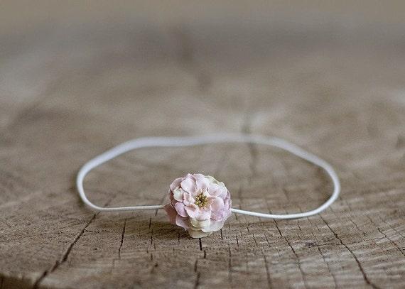 Petite Newborn Flower Headband - Pink