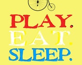 Kids Poster--Play, Eat, Sleep, Repeat