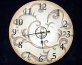 Swirly Clock - RESERVED