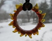 Fire Ring - Lampworked glass by Roger Kohler