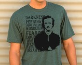 Mens EDGAR ALLAN POE t shirt american apparel S M L XL (11 Colors Available)