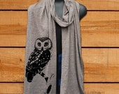 URBAN OWL Unisex Long Sheer Jersey Scarf -4 Colors available-