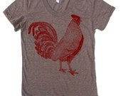 Womens ROOSTER T Shirt american apparel S M L XL (17 Colors Available)