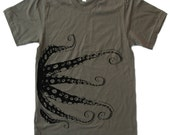 Mens OCTOPUS t shirt american apparel S M L XL (17 Colors Available)