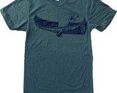 Mens MANATEE in a Canoe american apparel t shirt S M L XL (17 Color Options)