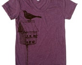 Womens BIRDHOUSE american apparel T Shirt S M L XL (16 Colors Available)