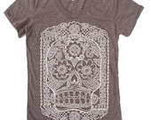 Womens DAY of the DEAD T-Shirt american apparel S M L XL (15 Colors Available)