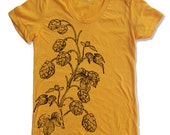 Womens HOPS american apparel tee S M L XL (14 Color Options)