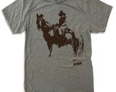 Mens COWBOY and HORSE t shirt american apparel S M L XL (11 Colors Available)