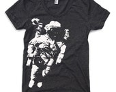 Womens ASTRONAUT  t-shirt american apparel S M L XL (16 Colors Available)