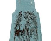 Womens California REDWOODS american apparel Tri-Blend Racerback Tank Top S M L (10 Color Options)