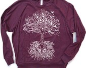 Womens ROOTS TREE Tri-Blend Pullover - american apparel S M L (8 Color Options)