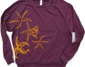 Womens STARFISH Tri-Blend Pullover - american apparel S M L (6 Color Options)