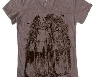 Womens California REDWOODS t shirt american apparel  S M L XL (16 Colors)