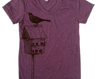 Womens BIRDHOUSE american apparel T Shirt S M L XL (16 Colors Available)