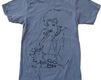 Mens VONNEGUT...So it Goes. american apparel t shirt S M L XL (16 Colors Available)