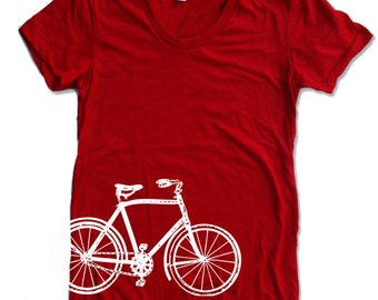 Womens Vintage  BIKE T Shirt american apparel S M L XL (17 Colors)
