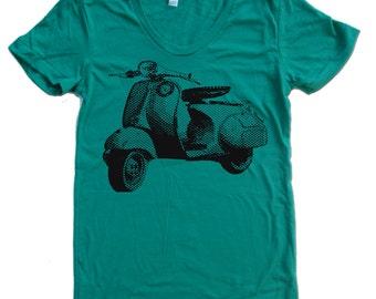 Women's VINTAGE VESPA T Shirt american apparel S M L XL (16 Colors Available)