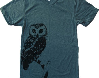 Mens URBAN OWL american apparel t shirt S M L XL (17 Colors Available)