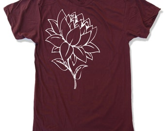 Mens LOTUS Flower t shirt  s m l xl xxl (+ Color Options)