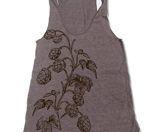 Womens HOPS american apparel Tri-Blend Racerback Tank Top S M L (9 Color Options)