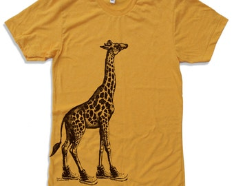 Mens GIRAFFE (in High Tops) t shirt s m l xl xxl (+ Color Options)