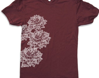 Mens Lotus Blossoms t shirt american apparel S M L XL (15 Color Options)