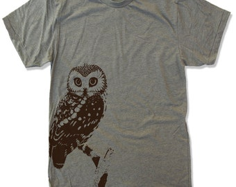 Mens URBAN OWL T-Shirt  s m l xl xxl (+ Color Options)