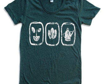 Women's GARDEN Grower T Shirt  american apparel S M L XL  (16 Colors Available)
