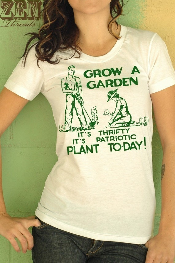 Women's GROW A GARDEN T Shirt S M L XL  (15 Colors Available)