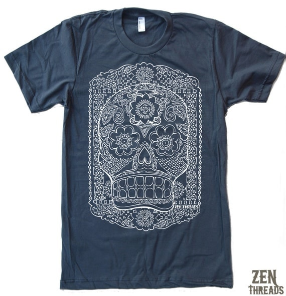 Mens DAY Of The DEAD T-shirt s m l xl xxl (+ Color Options)
