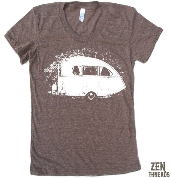 Women's VINTAGE CAMPER  t shirt american apparelS M L XL (16 Colors Available)