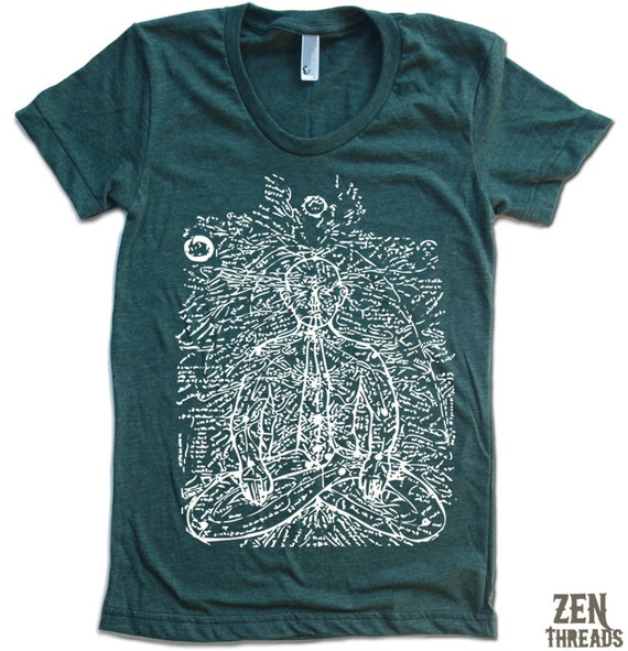 Womens PRANA (Energy Lines) T-Shirt american apparel S M L XL (16 Colors Available)