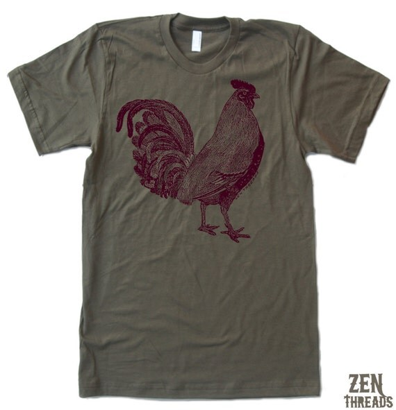Mens Urban ROOSTER T-Shirt american apparel S M L XL (17 Colors Available)