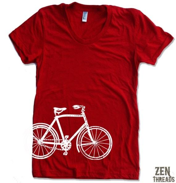 Womens Vintage  BIKE T Shirt american apparel S M L XL (17 Colors)