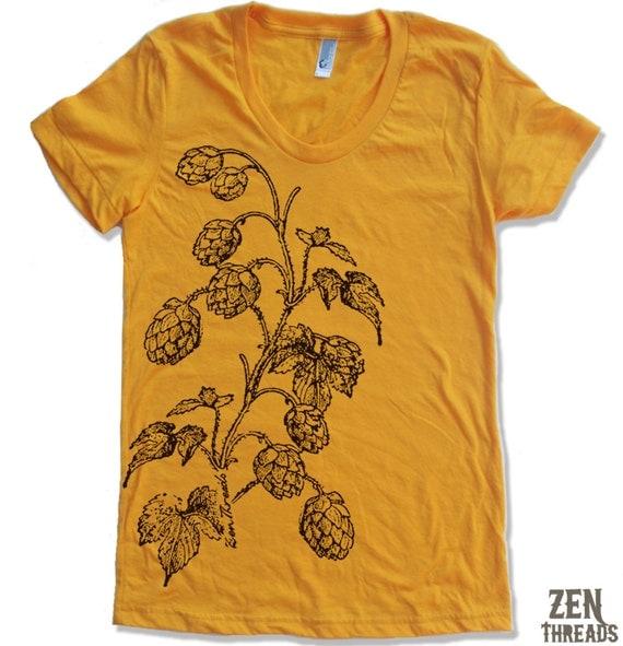 Womens HOPS american apparel tee S M L XL (14 Color Options)