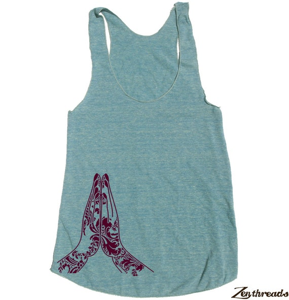 Womens NAMASTE american apparel Tri-Blend Racerback Tank Top S M L (9 Color Options)