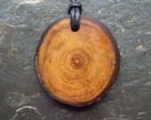 Superb Natural Wood Pendant - Apple - for Abundance and Plenty.