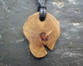 Rare Natural Wood Pendant - Gorse/Furze - for Passion.