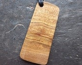 "Natural Wood Pendant - Holly/Tinne - Unique ""Secret Sigil"" Ogham Design."