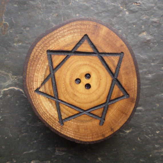 Beautiful Natural - Sweet Chestnut - Wood Altar/Pocket Talisman for Love and Romance.