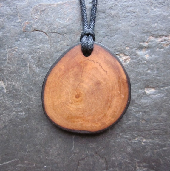 Reserved for Moontree13. Natural Wood Pendant - Pear - to Increase Lust.